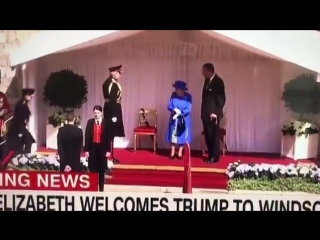 Трамп на опоздал на чай к королеве Елизавете