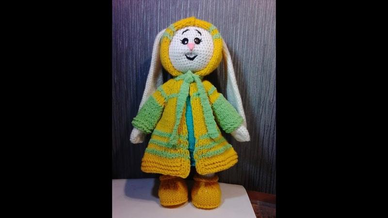 Зайка Няша, пинетки, ч.5. Bunny Nyasha, booties, р.5. Amigurumi. Crochet. Амигуруми.