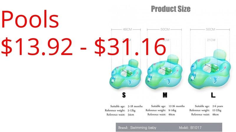 Pools $13.92 - $31.16