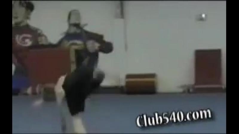 ТрикингТрюки с рондатаfull shuriken twist doubleleg