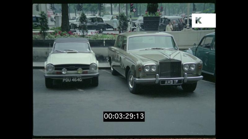 Rolls Royce in Car Park, 1960s London, 35mm
