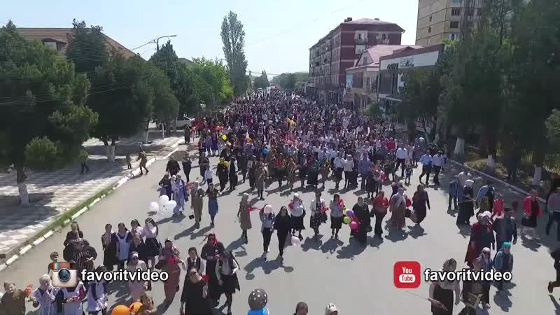 Бессмертный полк в Кизилюрте 9 мая 2019 год (1)