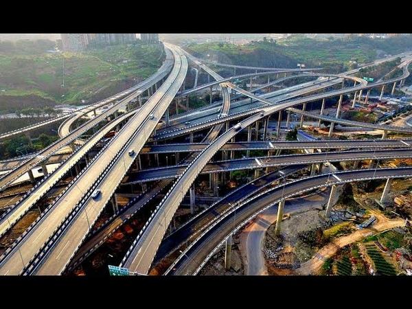 Просто взрыв мозга - Китайская пятиуровневая дорожная развязка