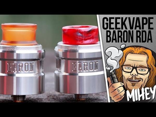 Geekvape Baron RDA Вкусная дрипка на 24 мм но с нюансом