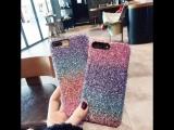 Bling Random Gradient Color Sequins Glitter Hard Telefon Kilifi Case
