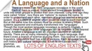A language and a Nation Lots of English Texts with Audio