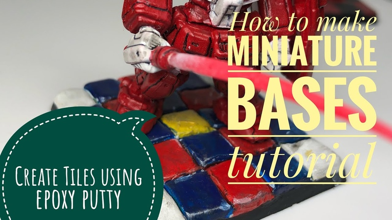 How to make miniature bases tutorial Tiles using epoxy putty