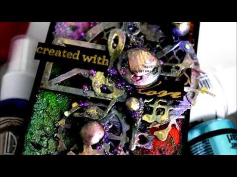 Step by step Tutorial Mixed Media card 'Create with love' by Ragozina Olga