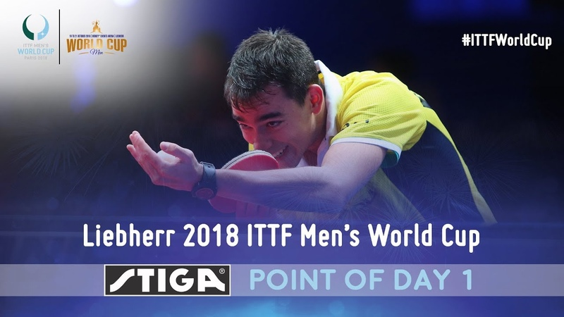 2018 ITTF Men's World Cup Point of the day 1 presented by STIGA