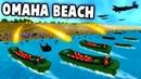 NEW D-DAY Omaha Beach LANDING Battle! (Ravenfield New Map WW2 Mod Gameplay)