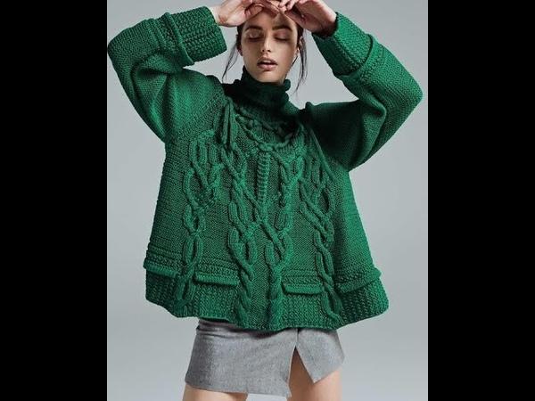 Вязание Спицами - Модный Пуловер - 2019 Knitting Trendy Pullover