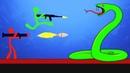 ГИГАНТСКАЯ ЗМЕЯ ПРОТИВ СТИКМЕНОВ В STICK FIGHT THE GAME! УГАРНЫЕ БИТВЫ ЧЕЛОВЕЧКОВ В СТИК ФАЙТ!