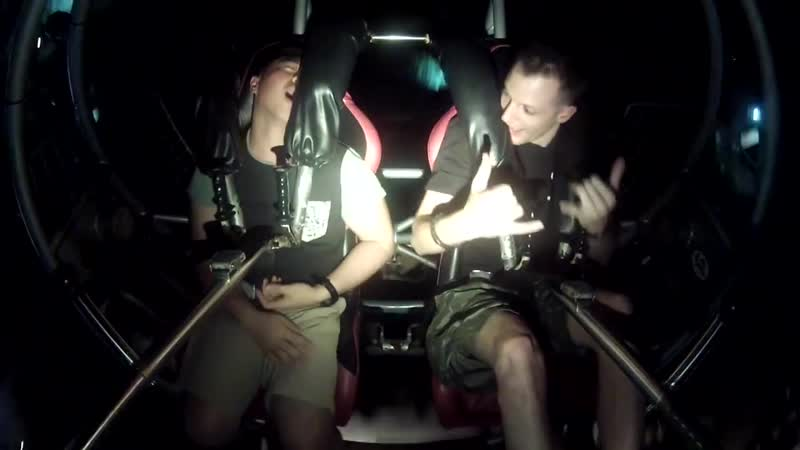 Grown Man Passes out on The SlingShot in Guam