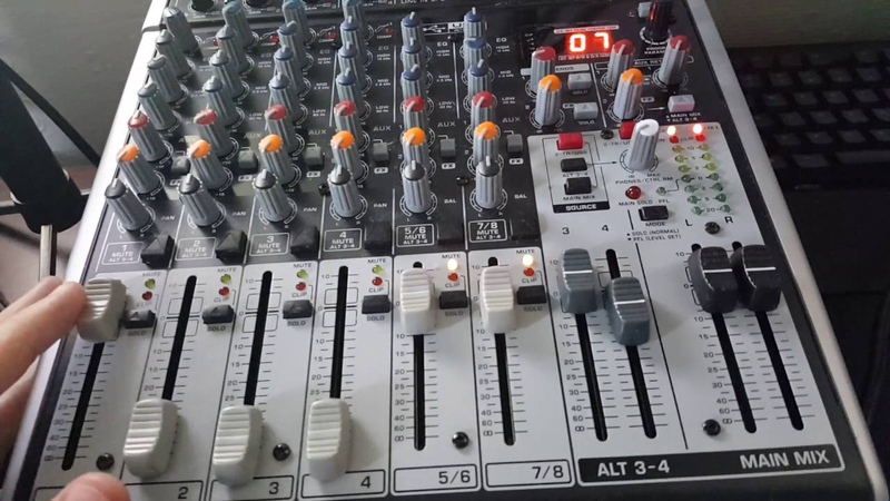 Dual PC stream setup - Mixer explanations - Behringer X1204 USB