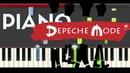 Depeche Mode Enjoy The Silence Piano Midi tutorial Sheet app Cover Karaoke