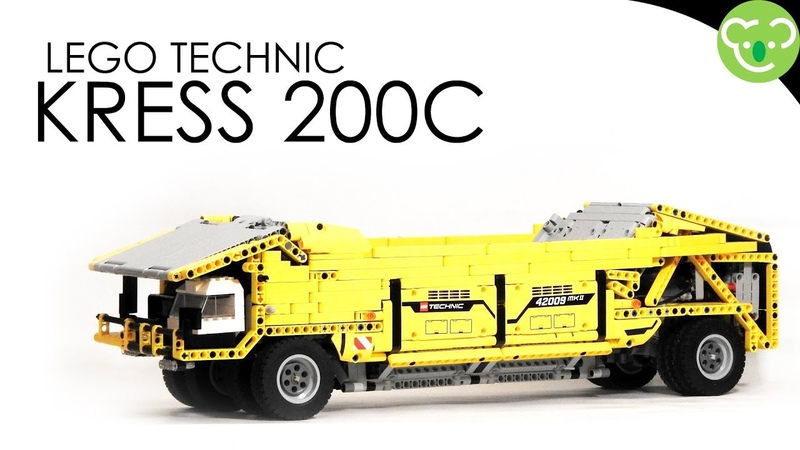 Coal Hauler inspired from Kress 200C MOC Lego Technic with double SBrick