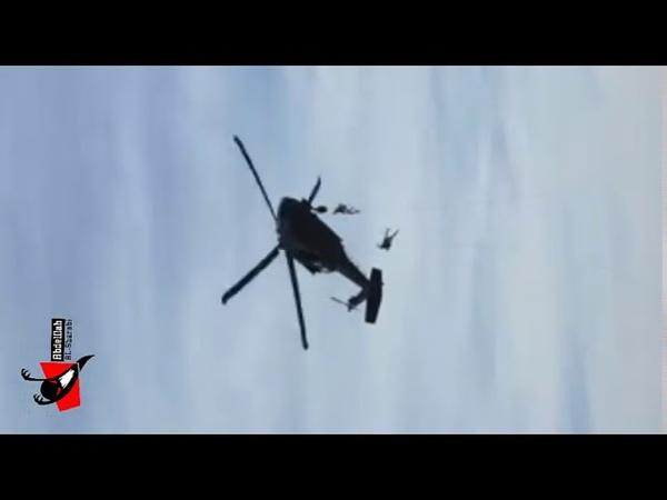 شاهد خبر مفجع لحظة سقوط جندي ووفاته من طائر