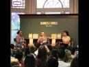 Сара посетила встречу с писательницей Фатимой Фархин Мирза в книжном магазине «Barnes Noble», 13 июня, Нью-Йорк.