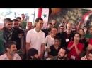Президент Сирии Башар Асад с супругой посетили лагерь беженцев в освобождённом сел