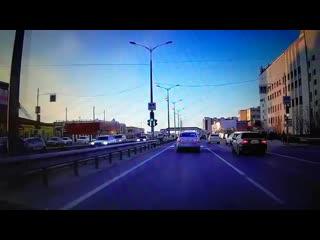 Нагло подрезал.Якутск. 17.04.19г