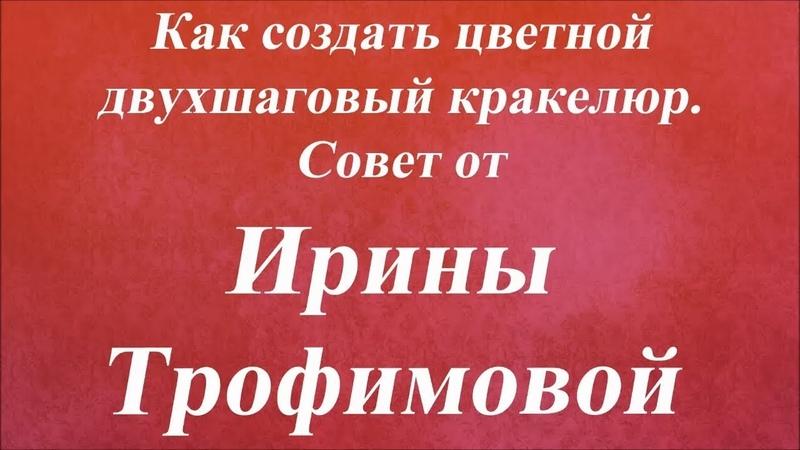 Как создать цветной двухшаговый кракелюр. Университет Декупажа. Ирина Трофимова