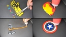 Marvel Heroes Weapons Pancake art - Thor Stormbreaker, Thanos Infinity gauntlet, Iron man