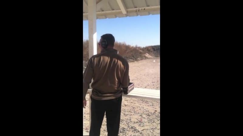 Shooting the Pistol THUNDER 50 BMG