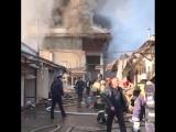 Пожар на Центральном ранке в Нальчике