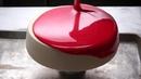 Red Mirror Glaze Cake