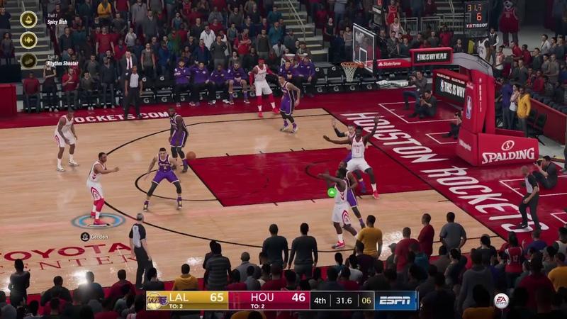NBA Live 19 Los Angeles Lakers vs Houston Rockets PS4 Gameplay