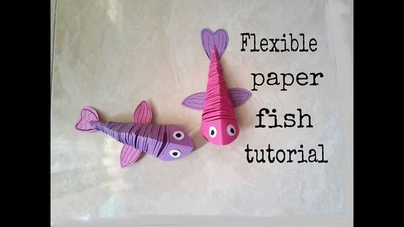 Flexible paper fish tutorialDIY paper artEasy DIY craft idea