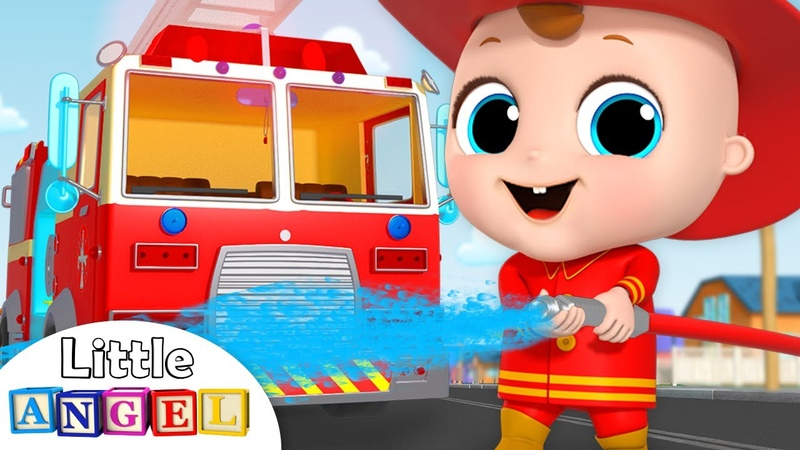 Firefighter and Fire Truck to the Rescue Firetruck Song Nursery Rhymes by Little Angel