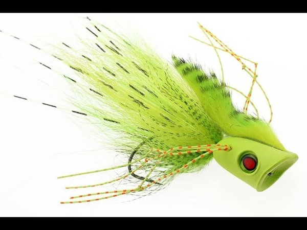 Fly Tying instruction on how to tie the pike popper: The Pop Punker