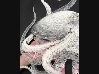 Kirie masayo — осьминог из бумаги