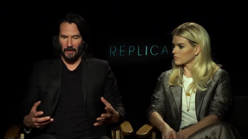Replicas interview Keanu Reeves Alice Eve