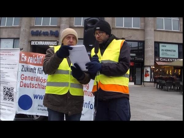 Entnazifizierungsurkunde von www.staatenlos.info Flashmob