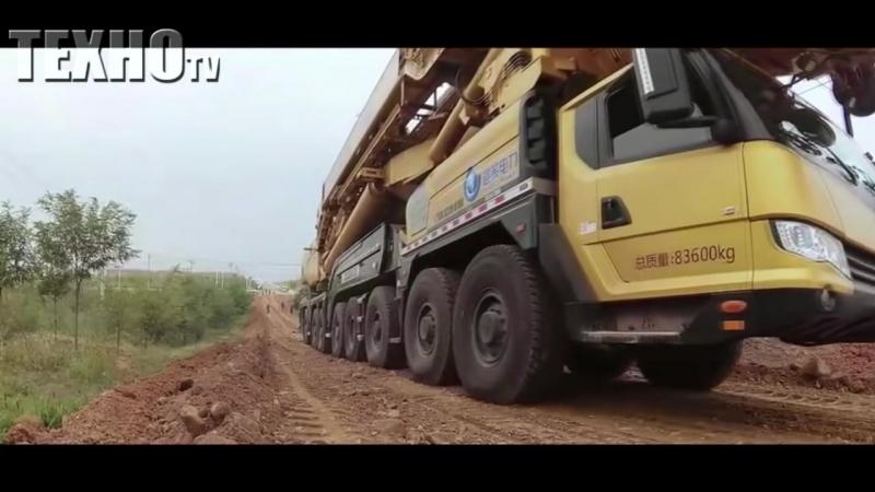 Китайский мега автокран для строительства 100-метровых турбин