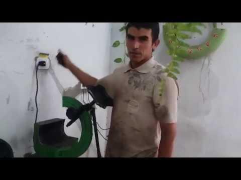 Vulcanizando lateral de pneu rasgado