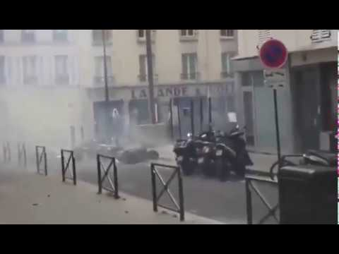 Mittlerweile Alltag in Paris Moslems kämpfen mit der Polizei und den Bürgern
