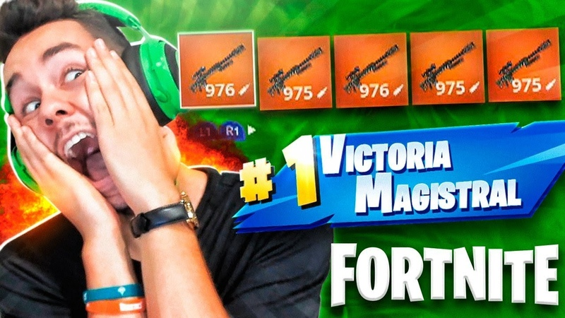 5 SNIPERS LEGENDARIOS en 1 PARTIDA de FORTNITE - TheGrefg