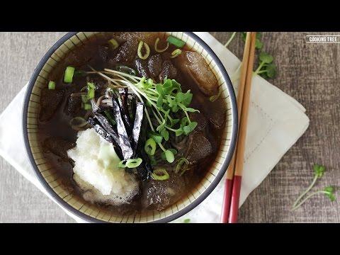 냉 모밀 만들기, 메밀국수, 메밀소바 : How to make Cold Buckwheat Noodles,Soba Noodles : そば - Cooking tree 쿠킹트리