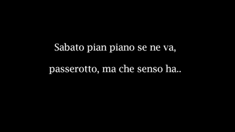 Claudio Baglioni - Sabato pomeriggio TESTOLYRICS.mp4