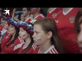 """Ответ российских болельщиков исландцам на исполнение ими """"калинки-малинки"""". Думаю, викингам будет приятно)"""