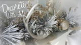 DECORATE FOR CHRISTMAS WITH ME 2017 I RUSTIC GLAM I Tree, Staircase &amp Fireplace Mantel