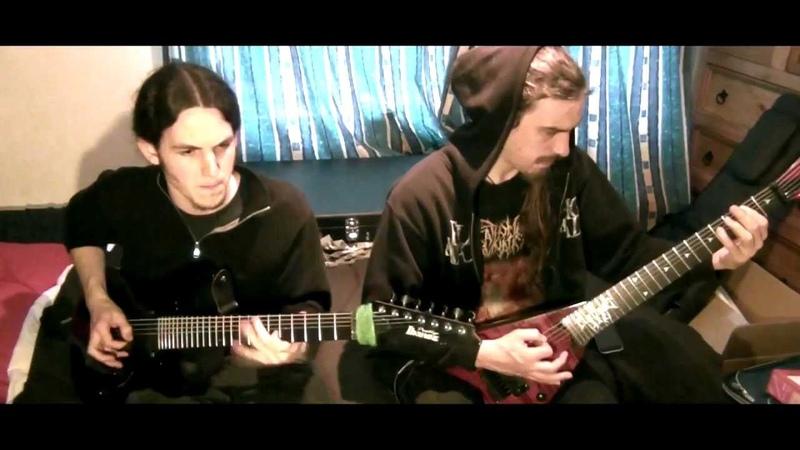 Bloodshot Dawn - Beckoning Oblivion (2 Electric Guitar Playthrough).