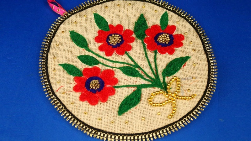 How to Make a Woolen Showpiece for Home Decor - DIY arts and crafts - Woolen Craft Ideas