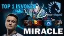 Miracle Invoker Top 1 Миракл играет на Инвокере Dota 2 TOP MMR