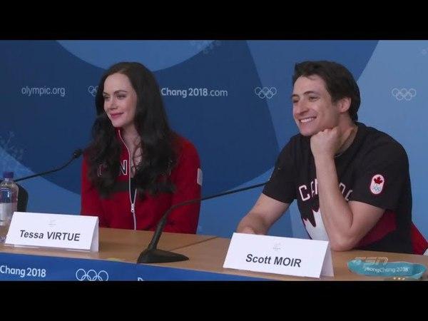 OG 2018 Tessa Virtue and Scott Moir Press Conference
