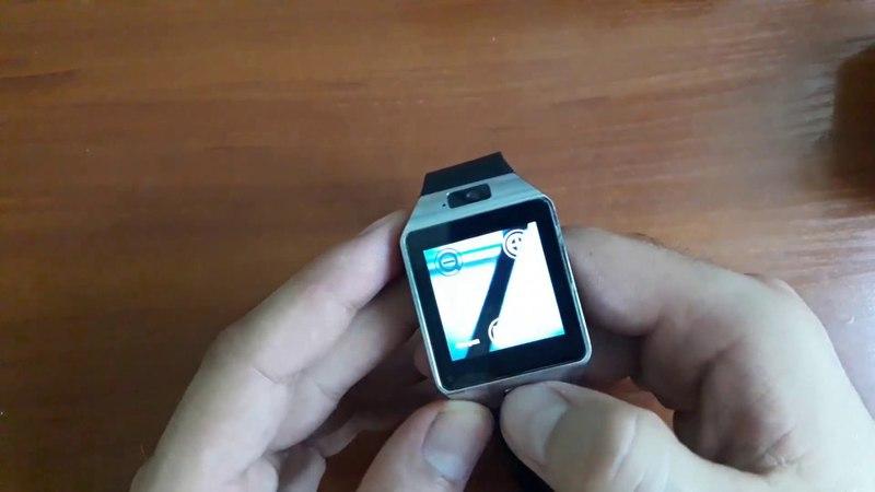 Обзор комплектации. Умные часы DZ09 Silver с SIM-картой и камерой
