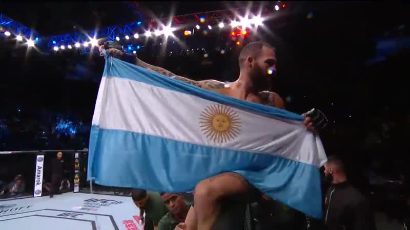 UFCArgentina results: Santiago Ponzinibbio def. Neil Magny via KO (punch) at 2:36 of R4